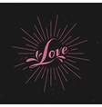 Love retro label vector image