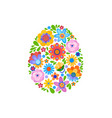 naive style flowers vector image