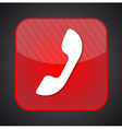 Phone icon - red app button vector image