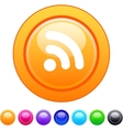 Rss circle button vector image
