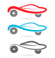 Cars silhouettes logo vector image vector image