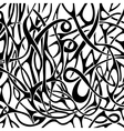 Black and white abstract pattern in tattoo style vector image