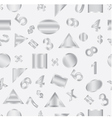 Seamless of geometric shapes and figures vector image