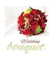 wedding bouquet vector image