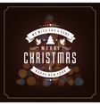Christmas lights and typography label design vector image