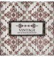 grungy floral vintage background vector image vector image