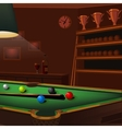 billiard balls composition on green pool table vector image