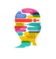 Brain Creative mind man head infographics vector image vector image