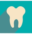 Flat with shadow icon and mobile applacation teeth vector image