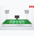 Concept of miniature tabletop football stadium vector image