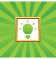 Light bulb picture icon vector image