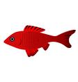 pretty fish vector image