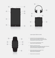 Set of gadgets electronic devices vector image
