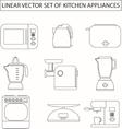 Set of linear kitchen appliances vector image