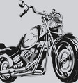 Vintage Motorcycle Silhouette vector image