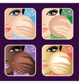 SSet of makeup young vector image