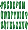 green metal letters resize vector image