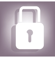 Lock icon with shadow vector image