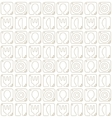 Seamless pattern with spoon fork plate and knife vector image