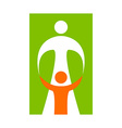 mother care sign vector image vector image