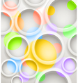 Abstract background of color circles vector image