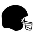 american football helmet the black color icon vector image