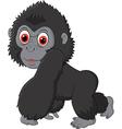 Cute baby gorilla vector image