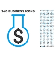 Financial Alchemy Icon with Flat Set vector image