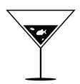 fish in martini black and white vector image