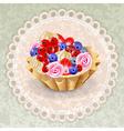napkin cake grunge vector image