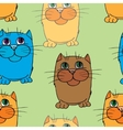 Seamless texture Cats vector image