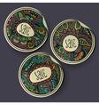 Set of Sale decorative Labels vector image