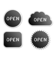 Open buttons vector image vector image