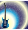 Background with guitar vector image vector image