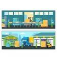 Warehouse Horizontal Banners vector image