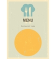 Retro menu cover vector image vector image