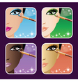 Set of makeup young vector image vector image