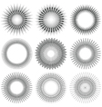 Radial Circle Elements vector image