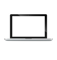 Modern glossy laptop vector image