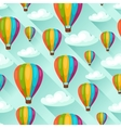 Seamless travel pattern with hot air balloons vector image