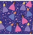 Colorful baby princess pattern vector image