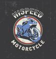 biker round frame poster vector image