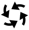 Cyclone Arrows Flat Icon vector image