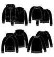 Girls hoodiesBlack vector image