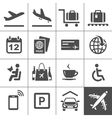 Universal airport and air travel icons vector image