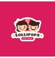 cartoon lollipops store logo vector image