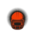 Isolated abstract red color baseball helmet logo vector image
