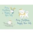 Humorous Christmas and New Year greetings vector image