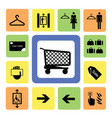 shopping mall icons set 2 vector image