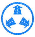 road directions rounded grainy icon vector image